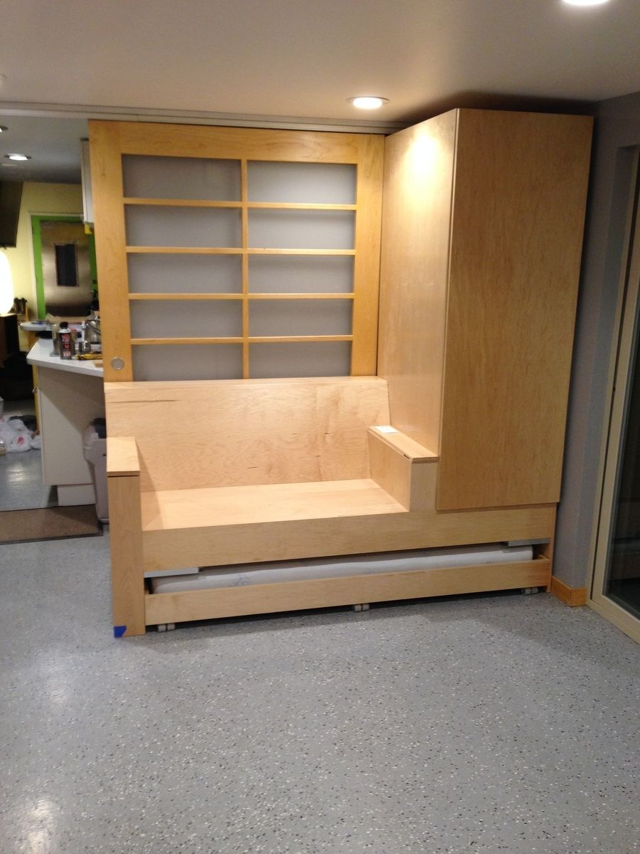 Handmade Custom Door Sofa Closet Bed And Work Area By