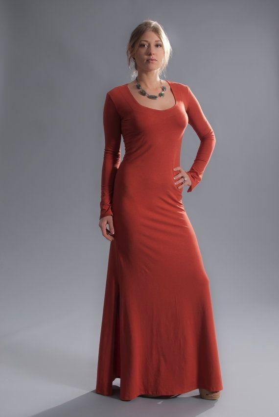 Hand Crafted Red Hot Chili Maxi Dress In SoyOrganic