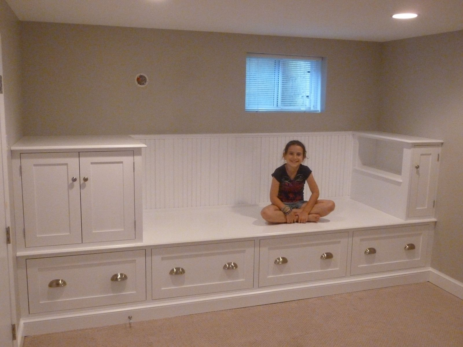 Custom Made Large Storage Bench Bed By Meisterbuilders