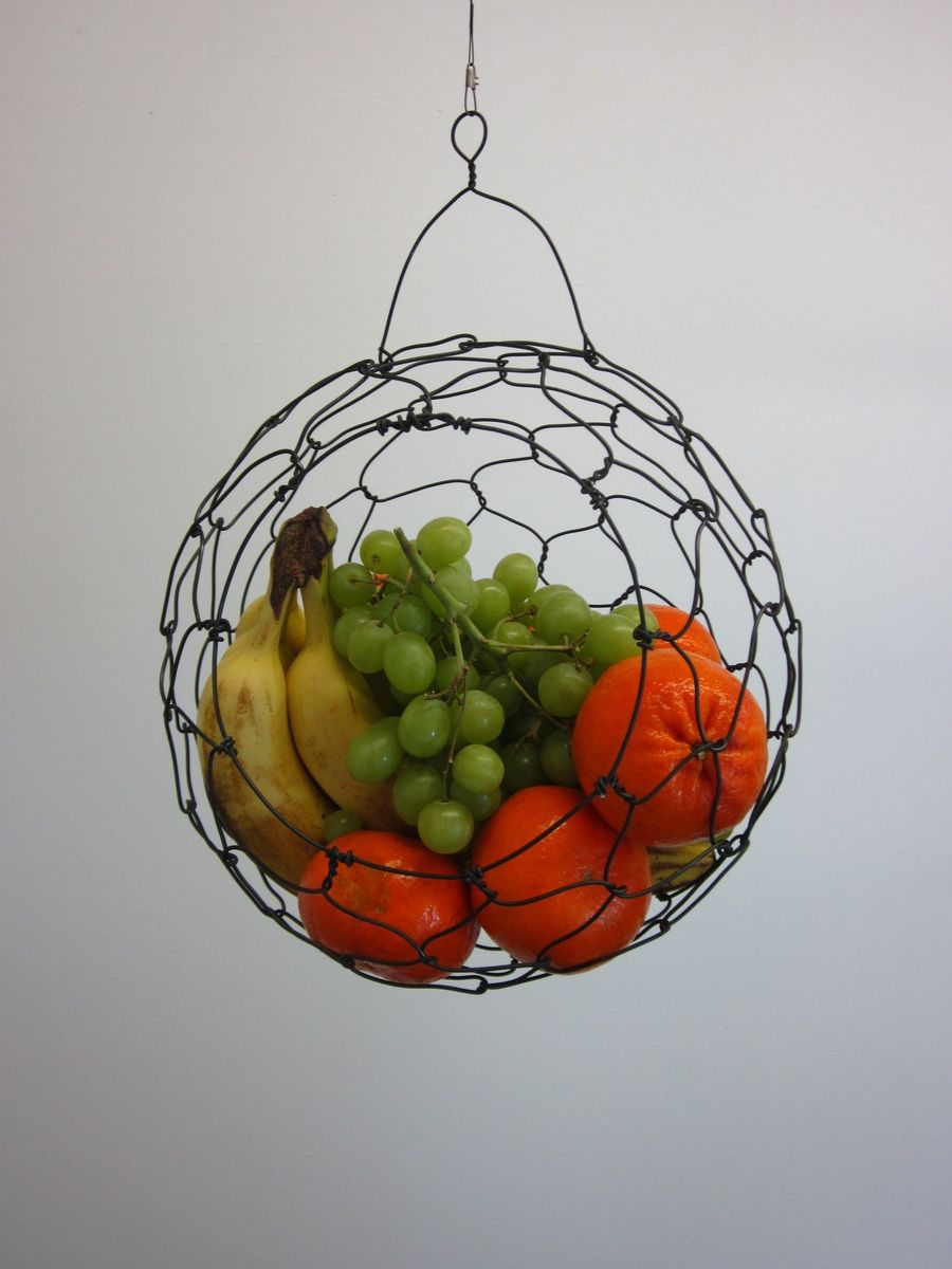 Custom Made Hanging Wire Fruit Basket By CharestStudios