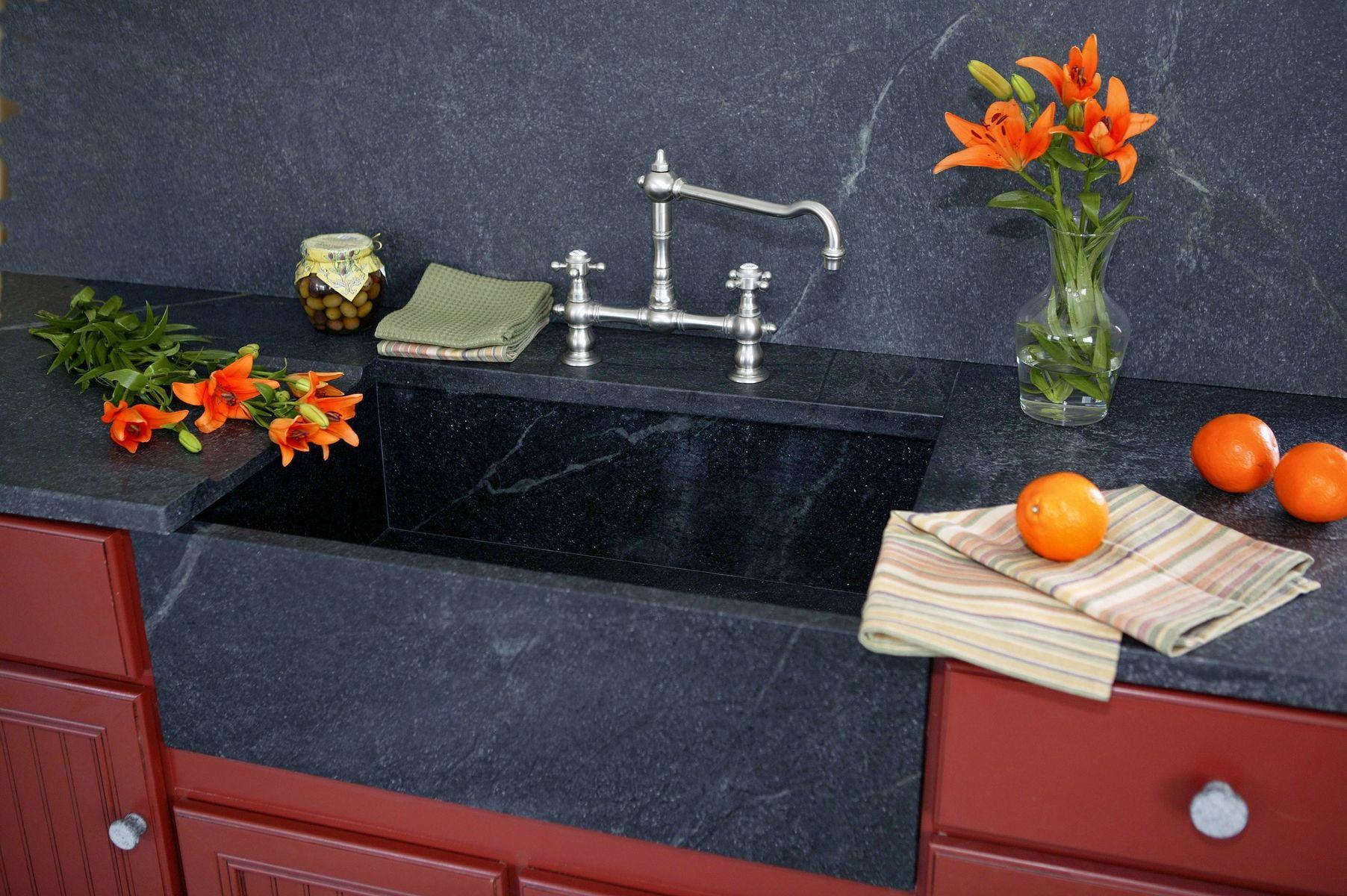 hand made custom soapstone sinks by