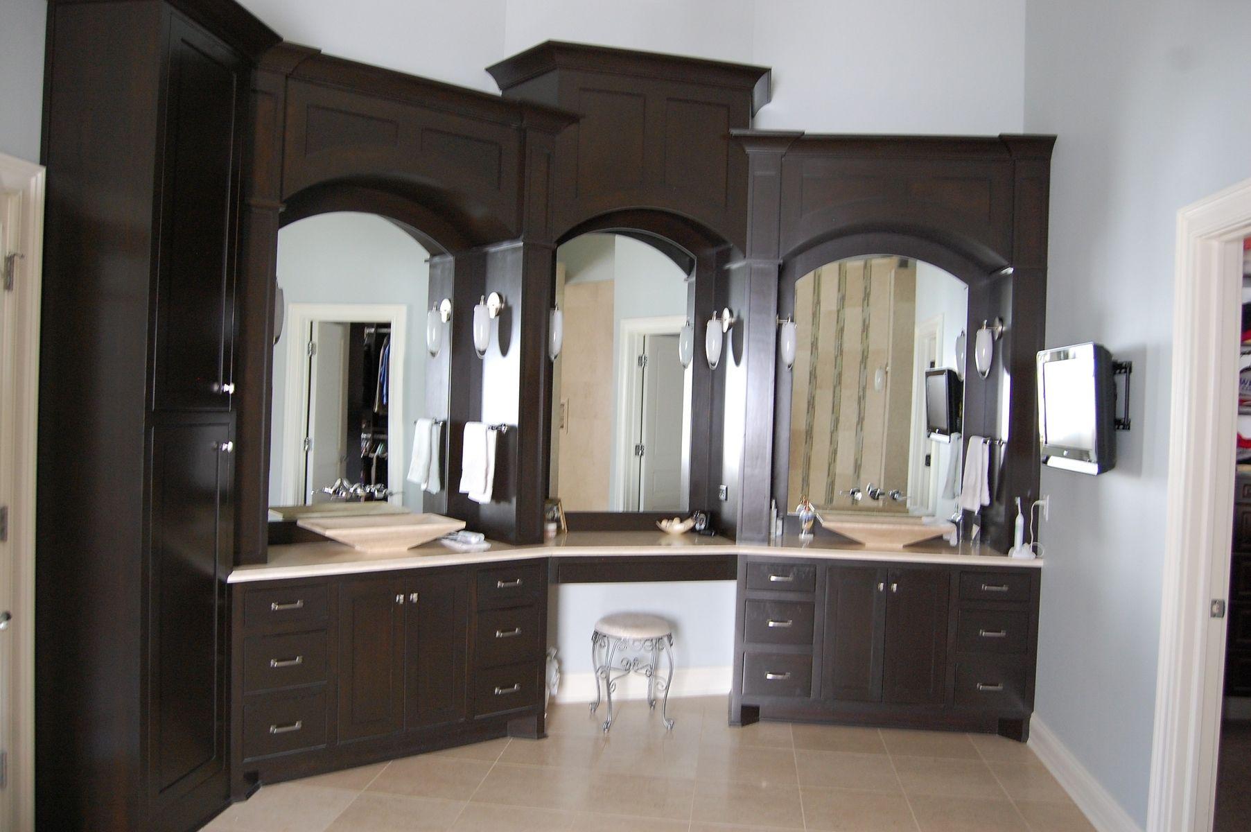 Handmade Custom Master Bath Cabinets By Jr's Custom