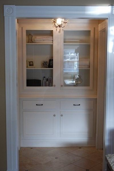 Hand Crafted Built In Linen Closet By Larue Woodworking