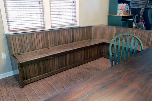 Hand Crafted Custom Built In Dining Room Bench Seating By R J Hoppe Inc
