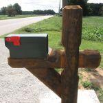 Handmade Mailbox Post Wrap Aromatic Cedar By Holtzer Custom Woodworking Custommade Com