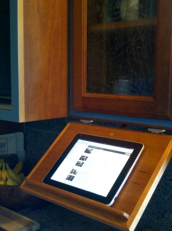 Custom Made Under Cabinet Pull Down Tablet Computer