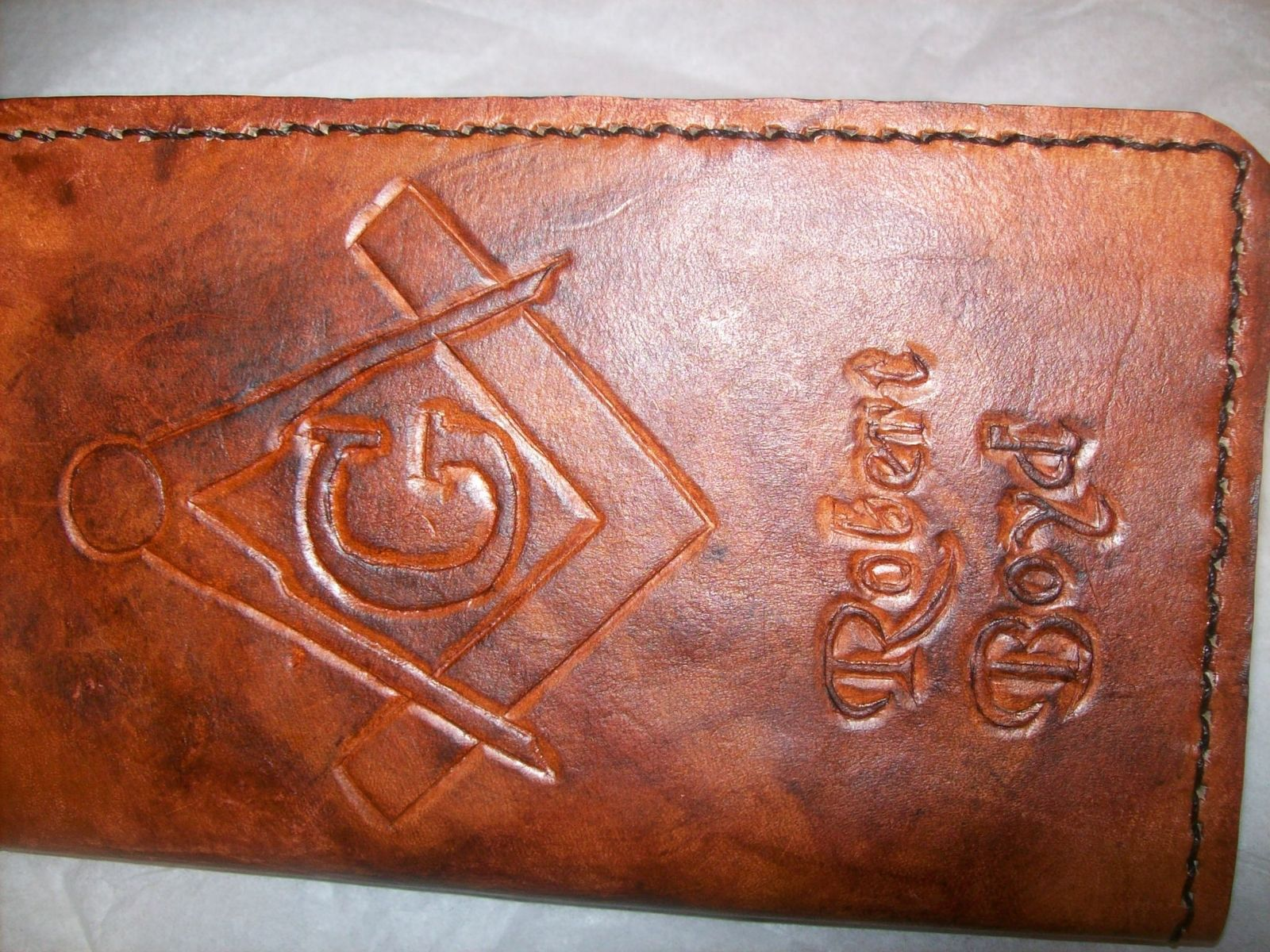 Buy A Handmade Custom Leather Masonic Day Planner In