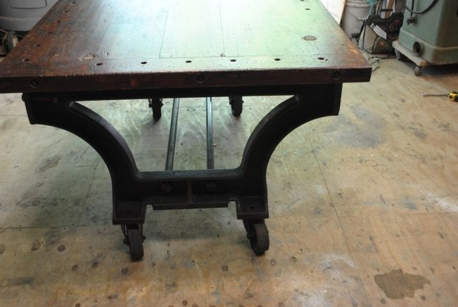 Hand Made Vintage Industrial Rolling PubDining Room Table By The RetroFactory