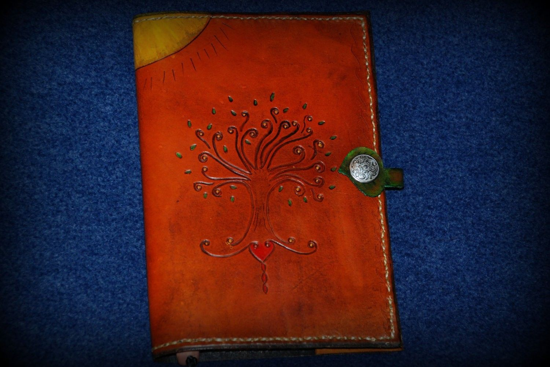 Custom Tree Of Life Amp Celtic Cross Leather Journal Cover