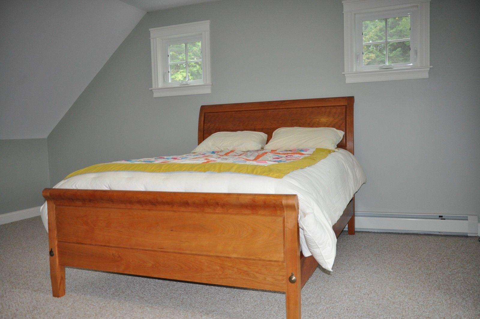Hand Crafted Sleigh Bed With Low Footboard By Paul Mullen