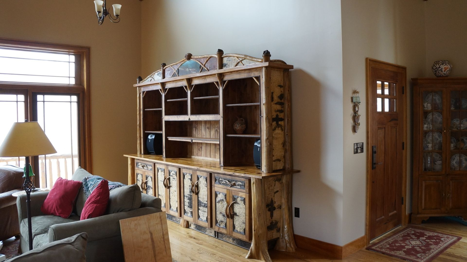 Handmade Large Alder And Birch Bark Bookcase By L Post