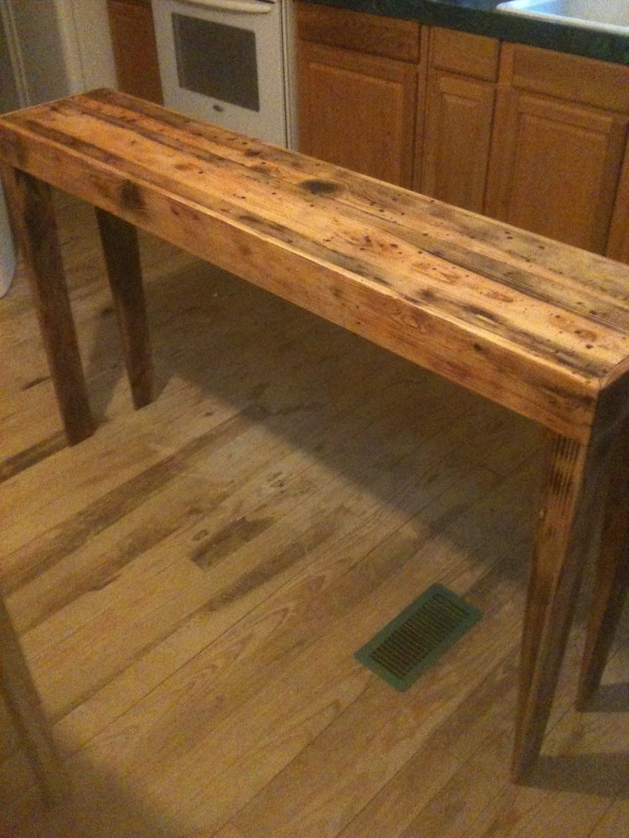 Hand Made Rustic Pine Distressed Sofa Table By Robert Ritteman Custom Woodworking