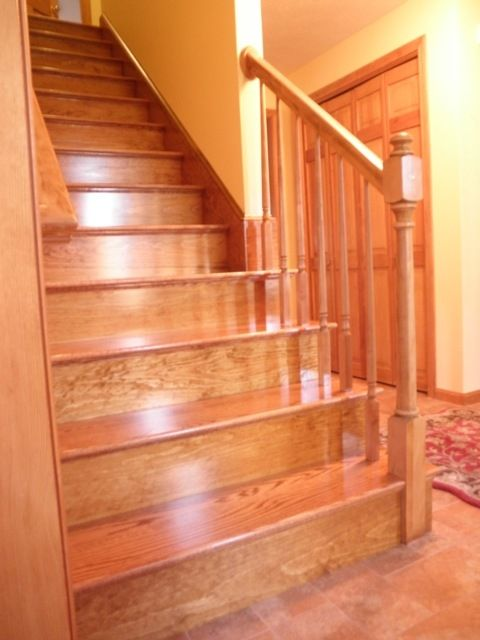 Custom Made Red Oak Stairs By Broughton Woodworks
