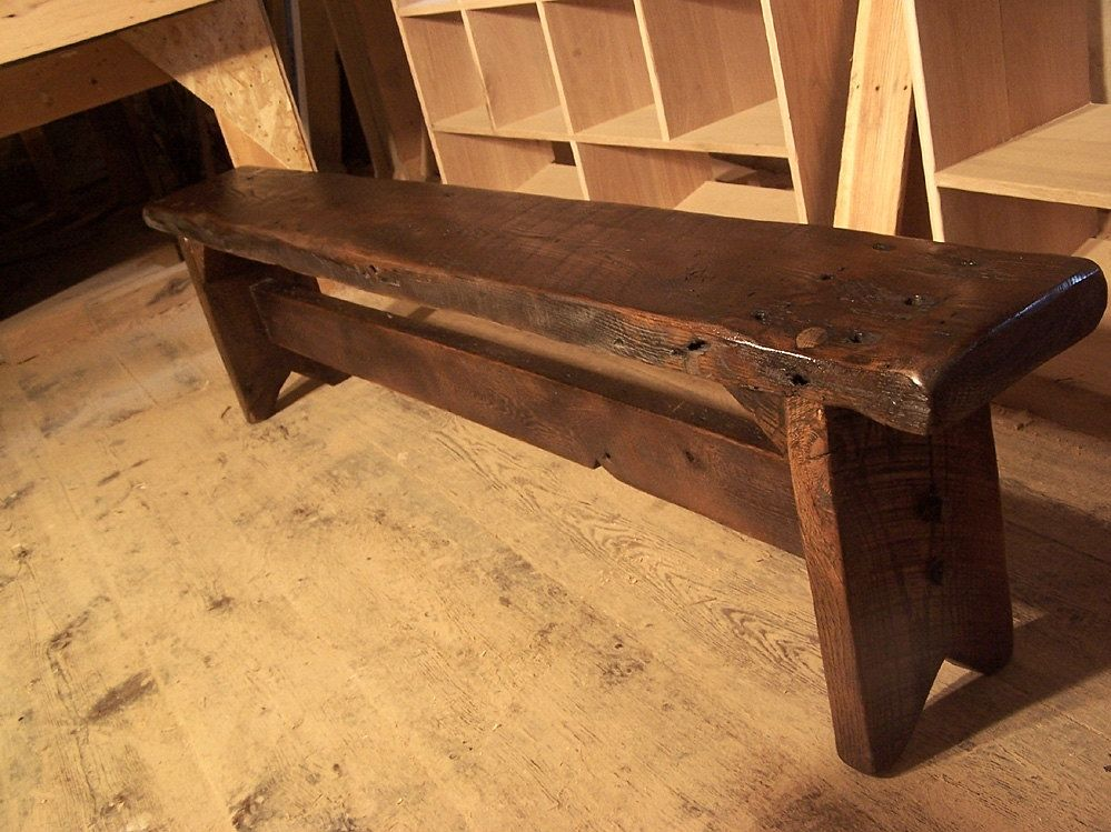 Buy A Custom Thick Plank Farm Bench From Antique Reclaimed