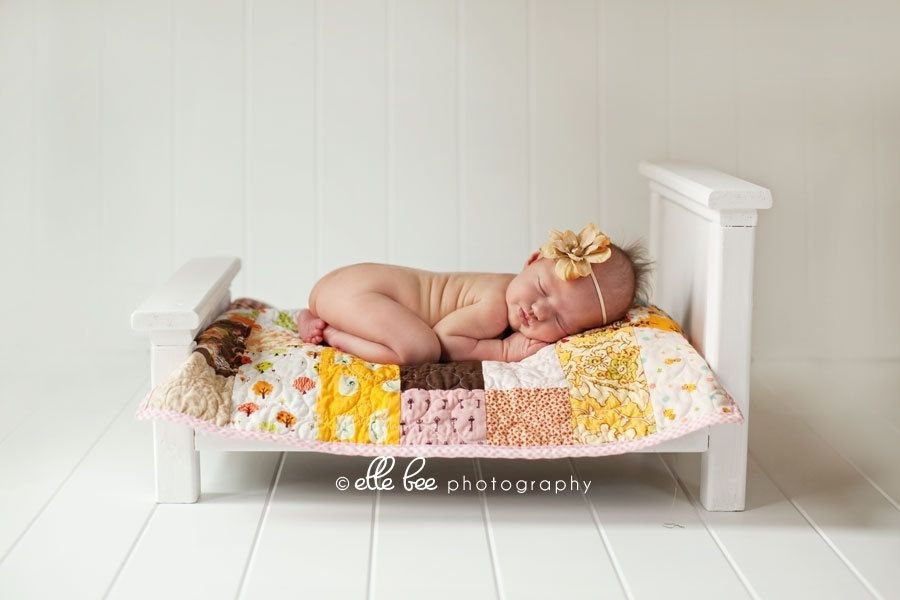 Hand Crafted Newborn Photo Prop Classic Antique White Doll