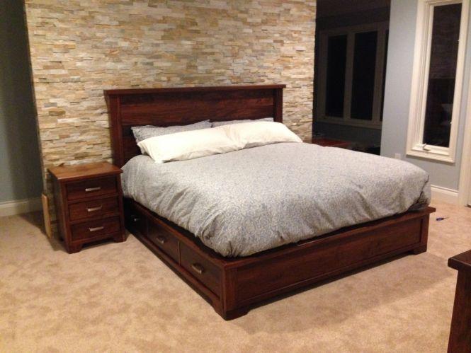 Custom Made Walnut Bedroom Set