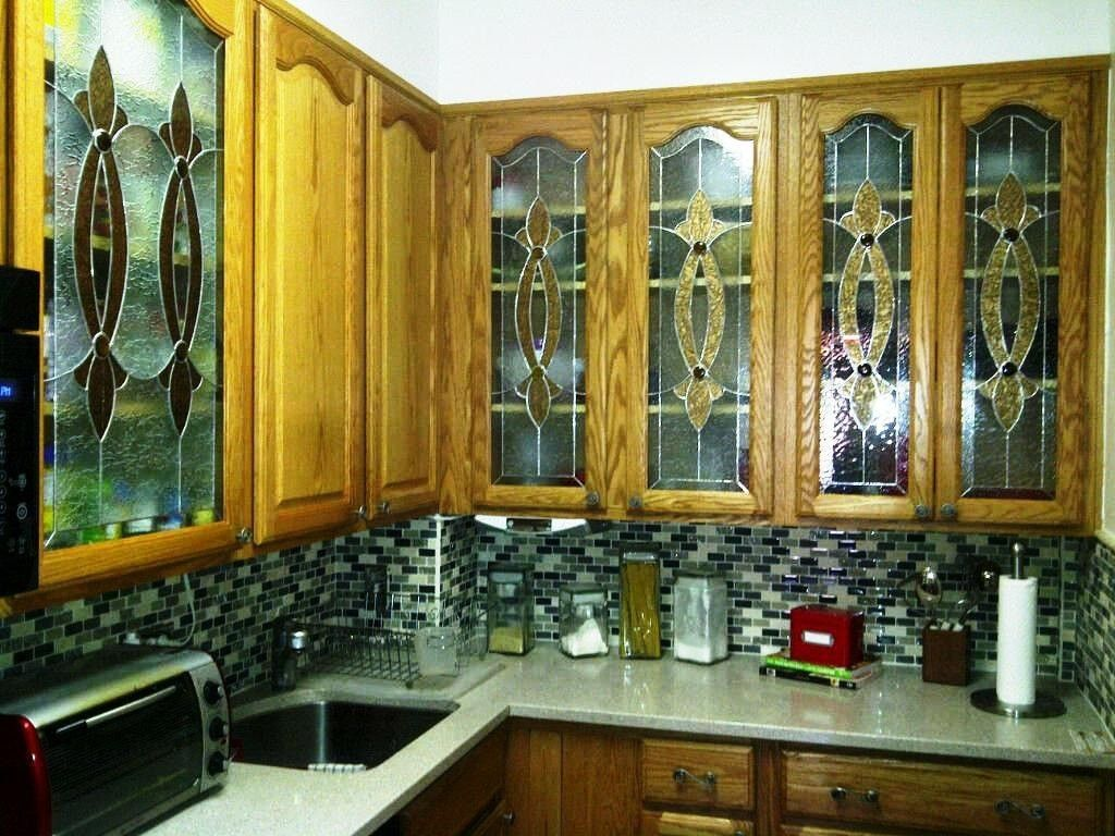 Best Kitchen Gallery: Hand Crafted Elegant Stained Glass Custom Kitchen Cabi Inserts of Stained Glass Kitchen Cabinet Inserts on cal-ite.com