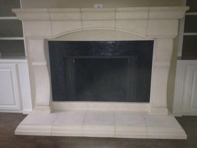 Handmade Cast Stone Fireplace Mantel Surround By Southern