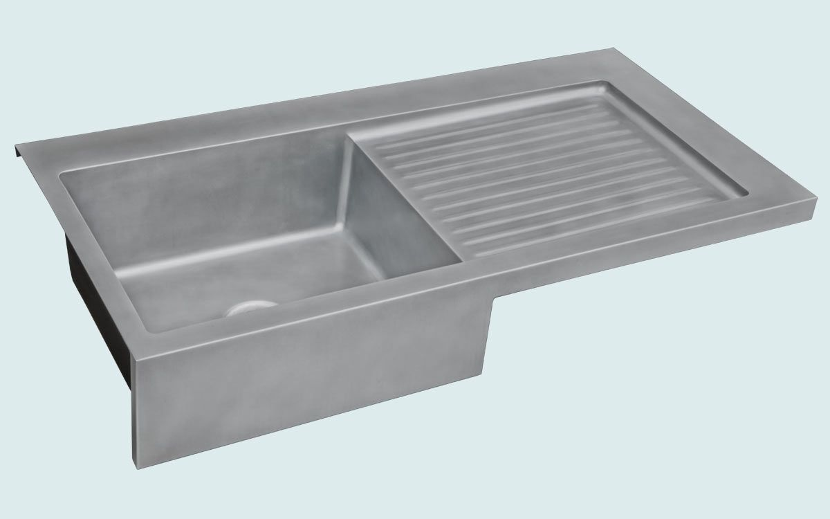 Hand Made Zinc Sink With Apron Amp Ribbed Drainboard By