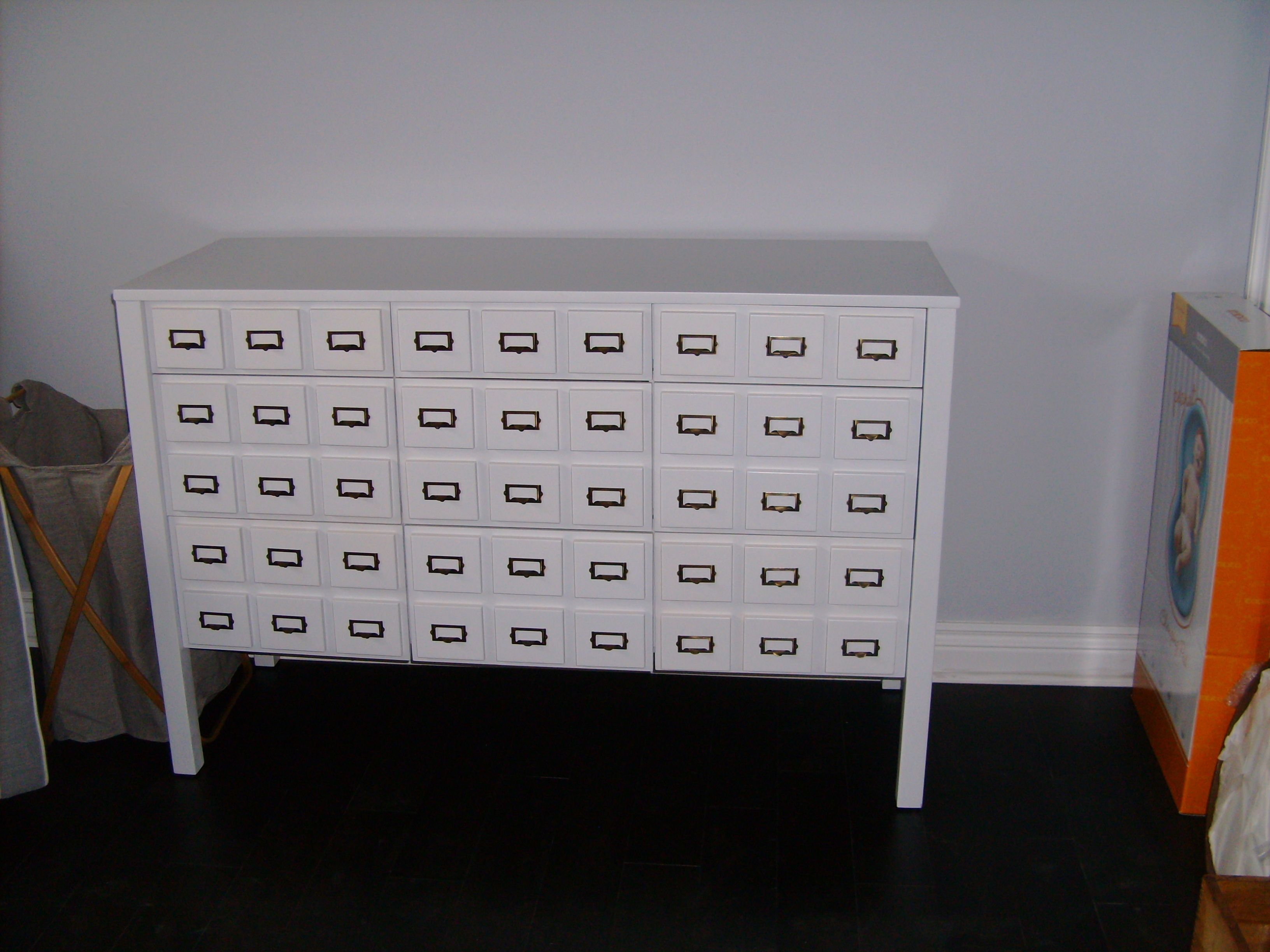 card catalog style 9 drawer dresser
