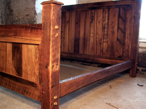 Buy A Handmade Cabin Style Reclaimed Wormy Chestnut Bed
