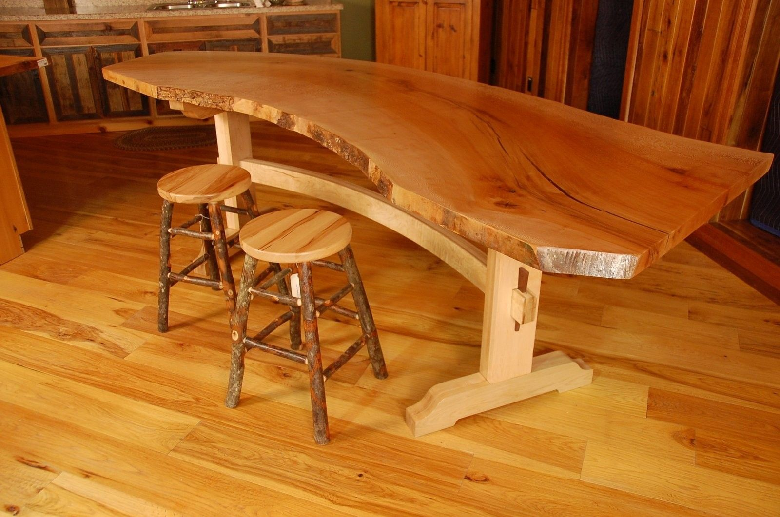 Handmade Sycamore Live Edge Slab Dining Table By Corey