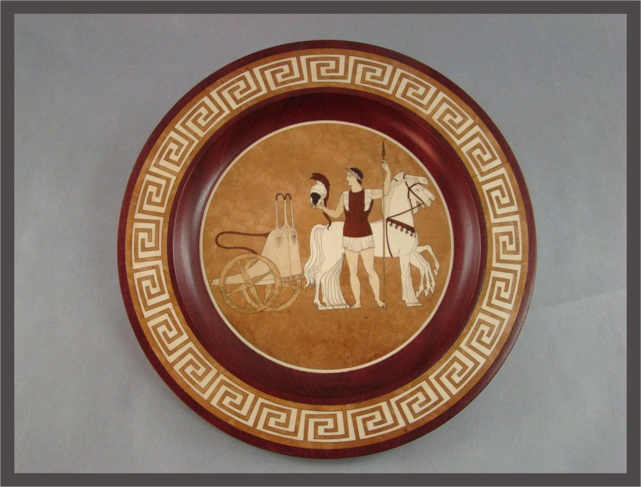 Hand Made Greek Plate By Mwb Studios