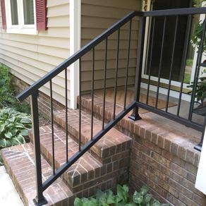 Custom Railings And Handrails Custommade Com | Garden Handrails For Steps | Modern Hand | Wooden | Free Standing | Solid Wood | Stair Railing