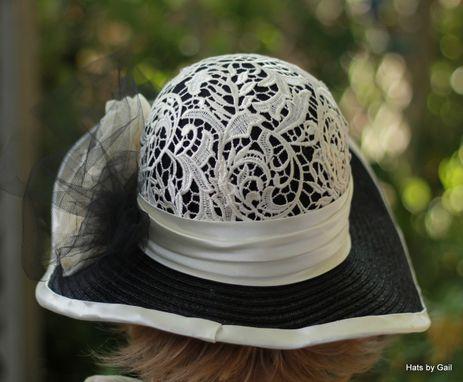 Custom Made Womens Wide Brim Fancy Straw Summer Hat