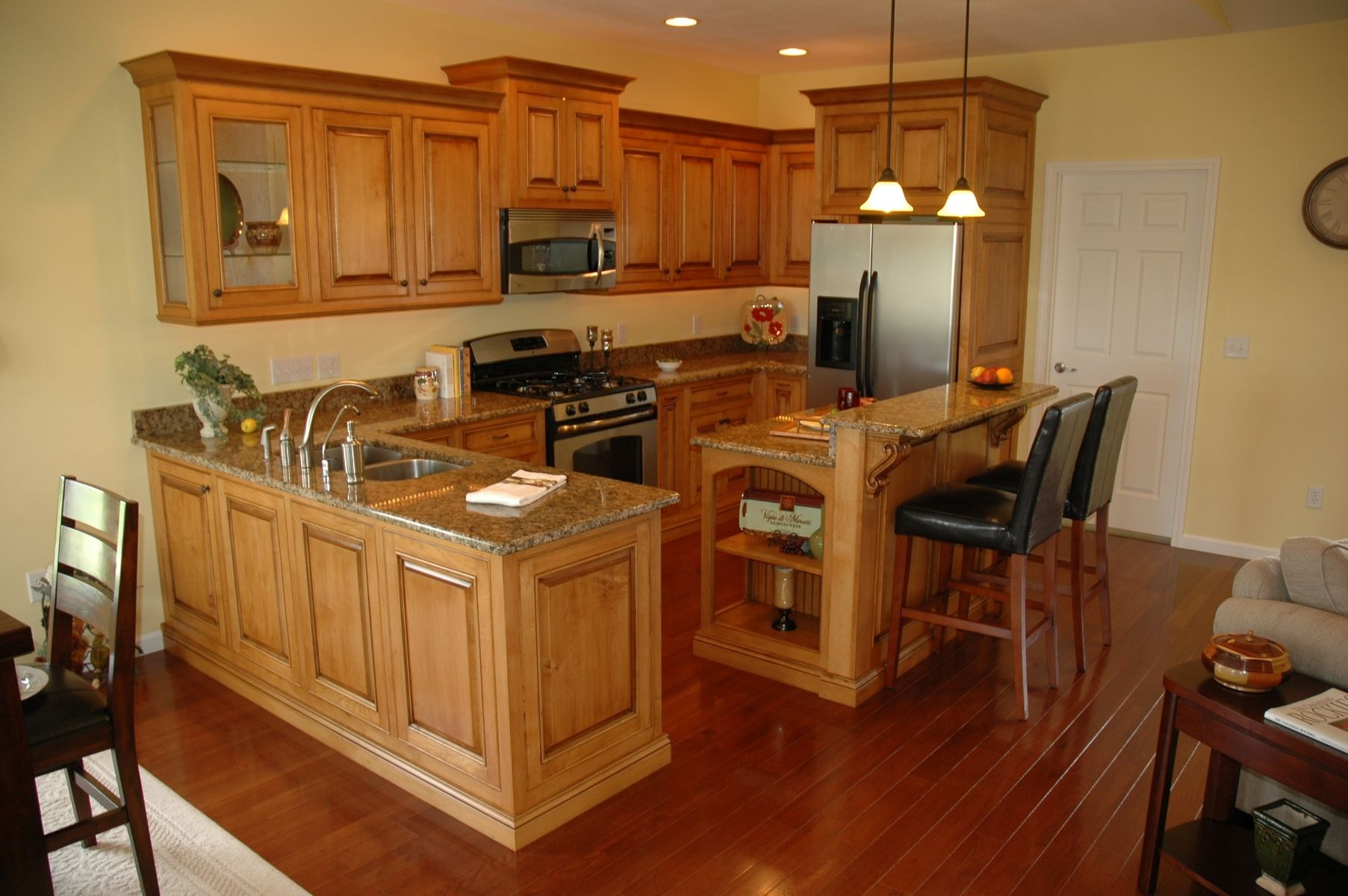 Hand Crafted Glazed Maple Cabinets by Custom Corners Llc ... on Maple Cabinets Kitchen  id=28905