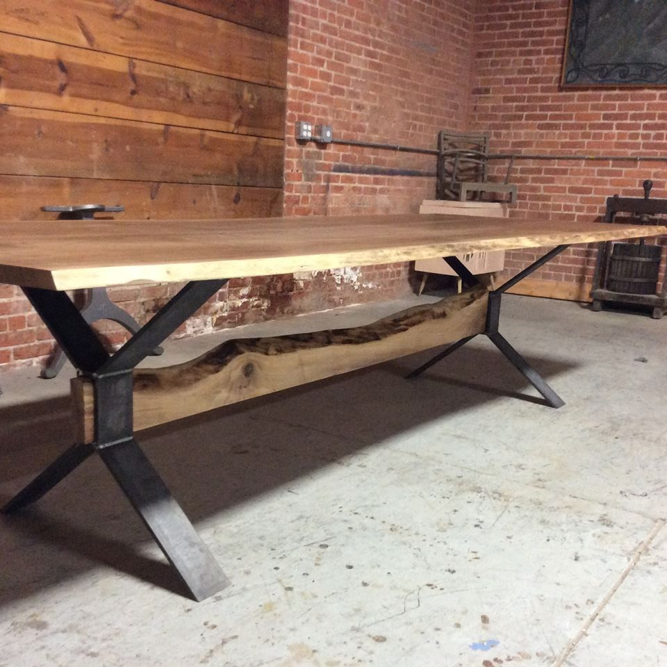 Buy A Hand Made Live Edge Farm Style Dining Table Made To