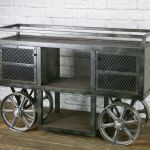 Buy Hand Made Reclaimed Wood Industrial Trolley Bar Cart Storage Console Sofa Table Tv Stand Made To Order From Combine 9 Custommade Com