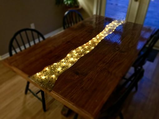 Custom Glowing River Dining Table By Great Lakes Design