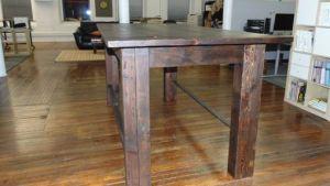Custom Reclaimed Wood Farmhouse / Industrial Pub Height