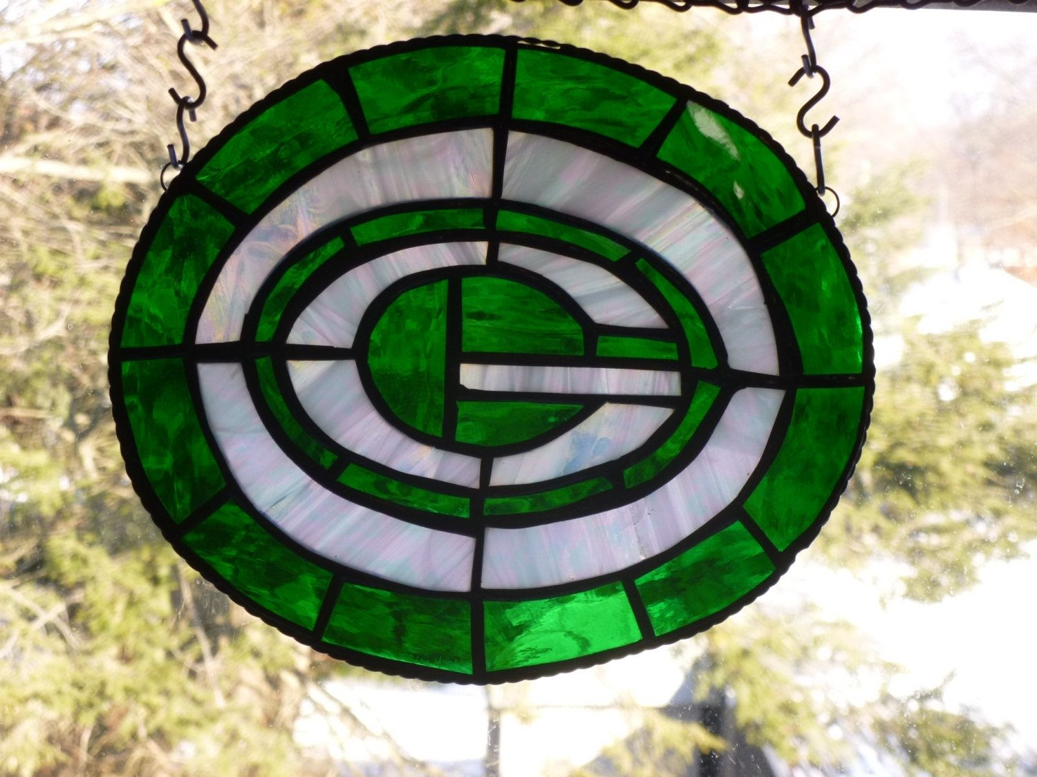 Buy A Custom Stained Glass Green Bay Packers Inspired