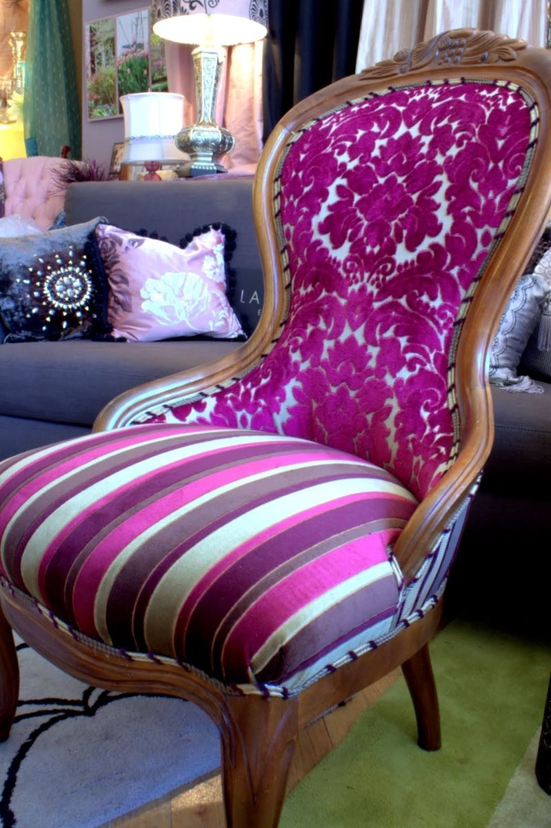 Custom Upholstered Chair Vintage Victorian Chair By Jane