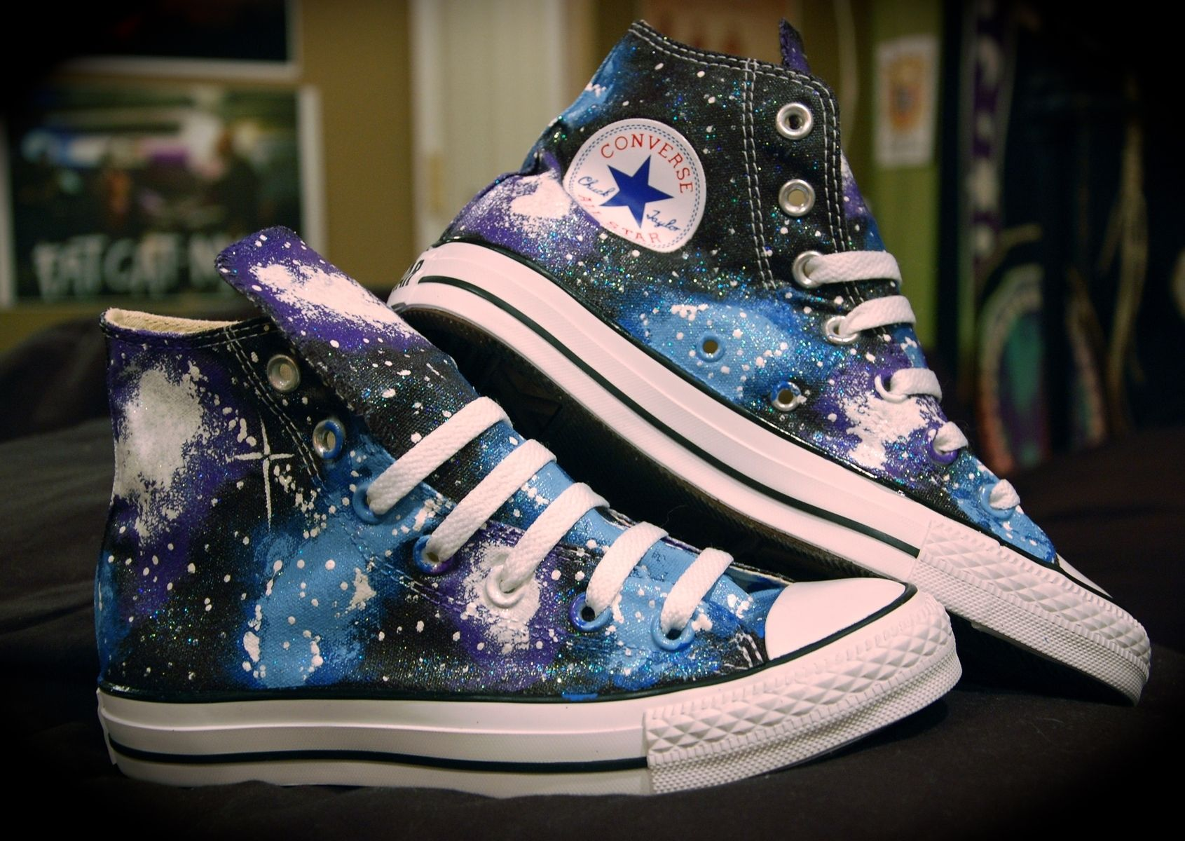 Hand Made Galaxy Converse By Sunshine Daydream