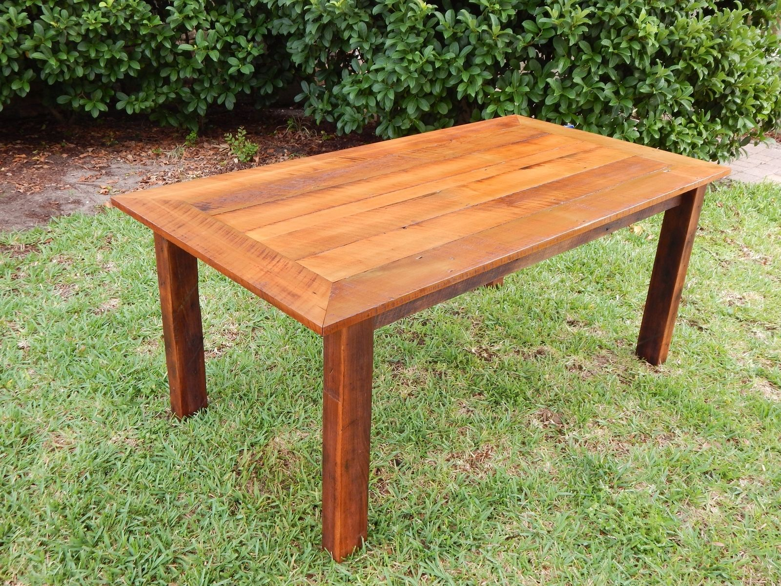 Custom Reclaimed Poplar Dining Table W/ Matching Bench By