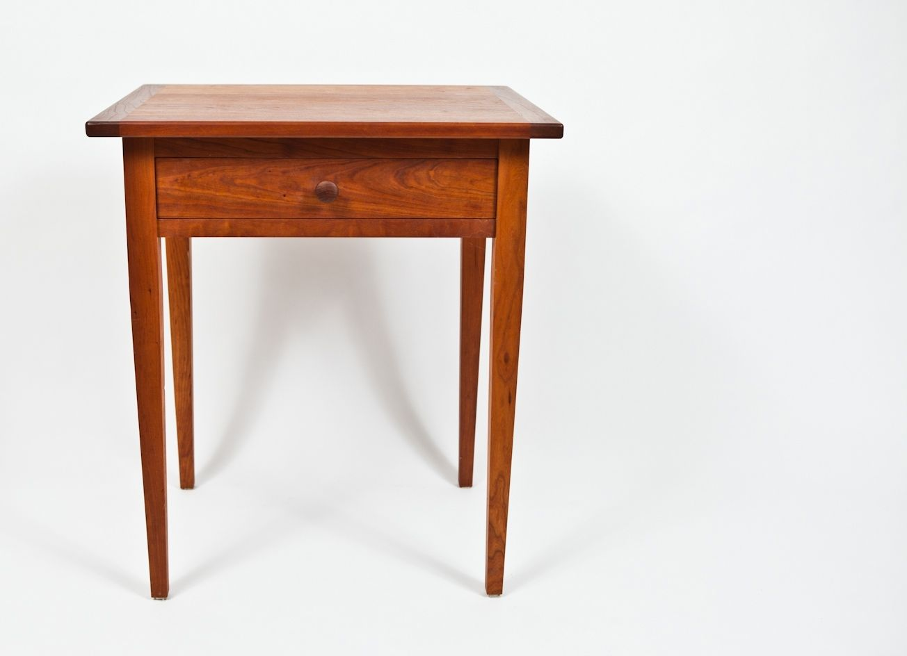 Custom Made Classic Shaker-Style Cherry End Table By