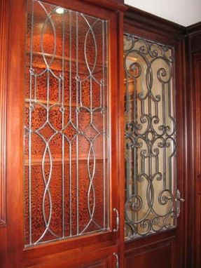Handmade Leaded Glass Inserts For Cabinets By Glassworks