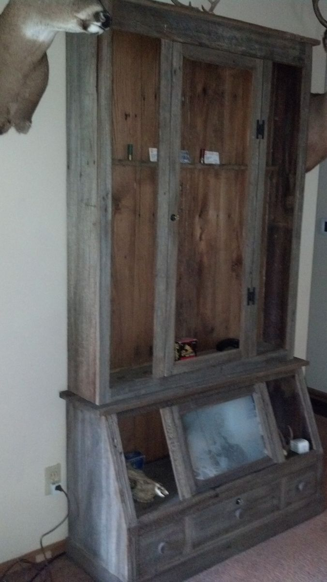 Hand Made 10 Gun Cabinet By Rats Wood Creations