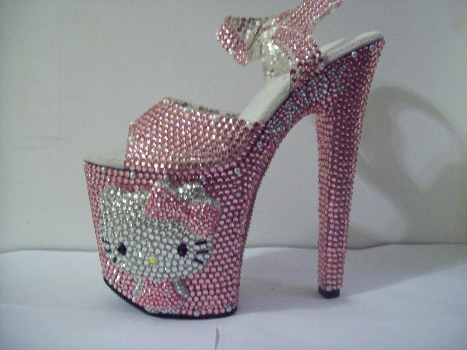 Buy Hand Made 3d Crystallized Hello Kitty Heels Made To