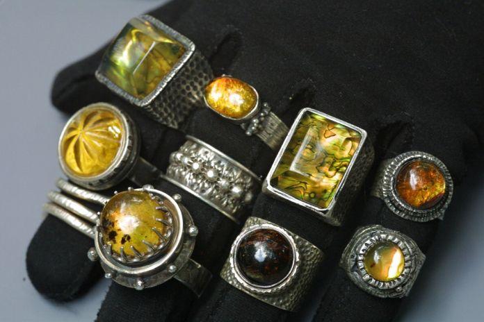 Handmade Chiapas Amber Rings by Cher Fox