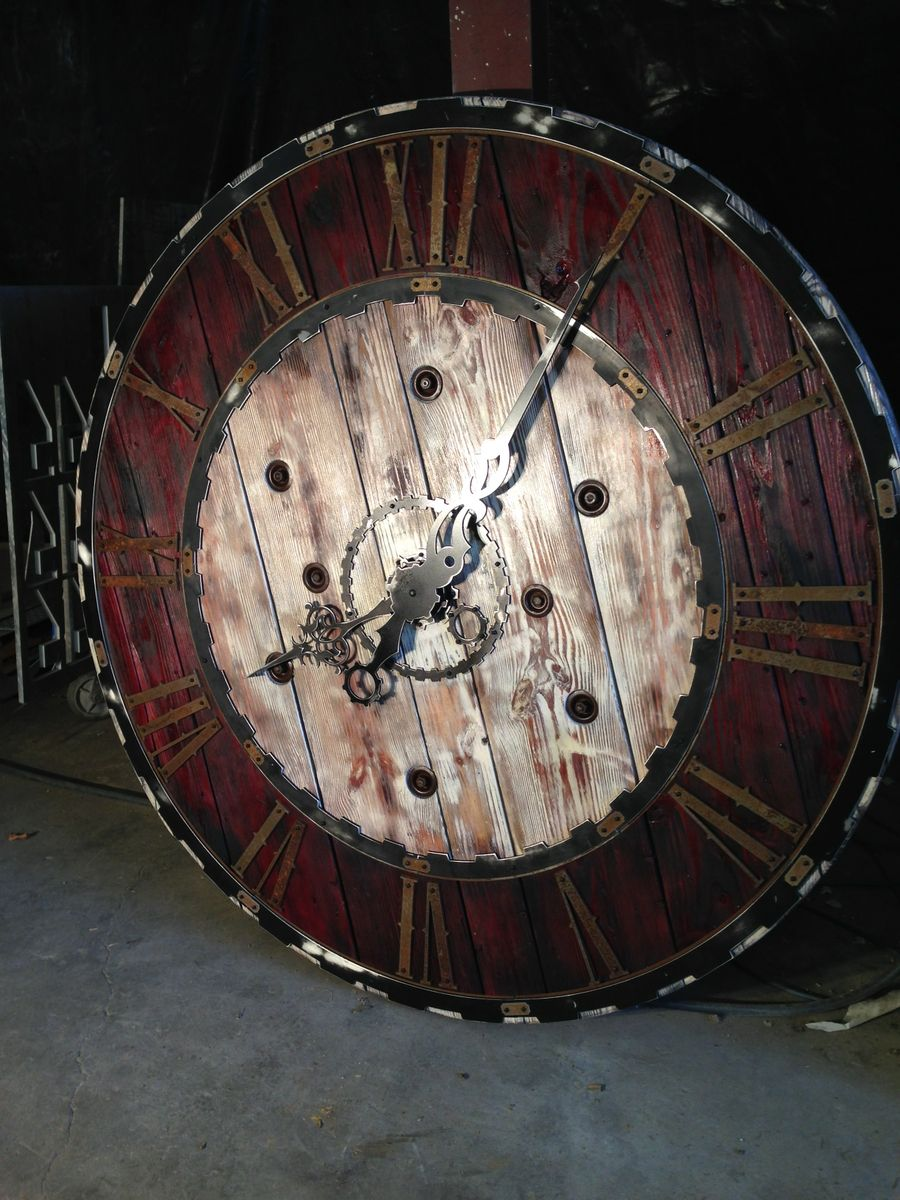 Buy A Hand Crafted Large Steampunk Clock Made To Order From Cobalt Design And Manufacturing