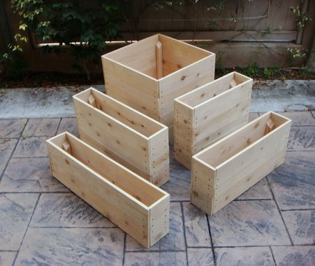 Hand Crafted Wood Planter Cascade 36 X 36 X 20 Inch