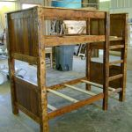 Hand Made Twin On Twin Reclaimed Barnwood Bunk Bed By Ireland S Wood Shop Custommade Com