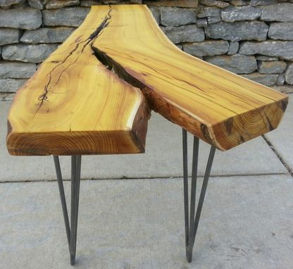 Custom Made Osage Orange Live Edge Coffee Table Modern