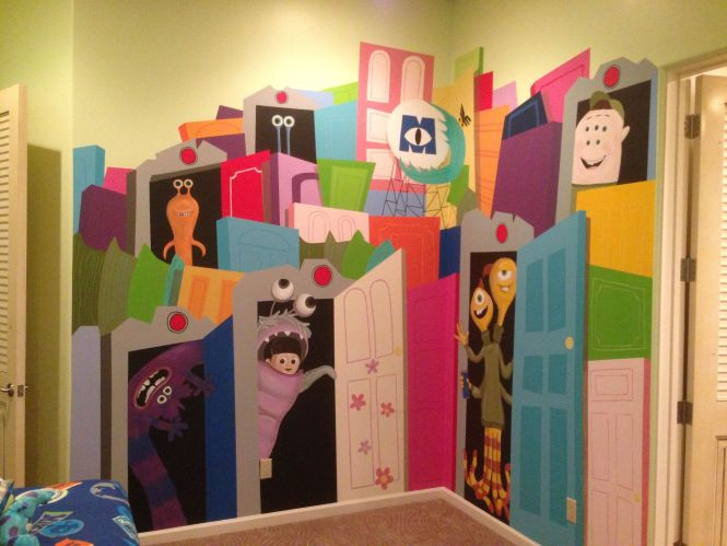 Custom Made Monster Inc Wall Mural Hand By Kid Murals