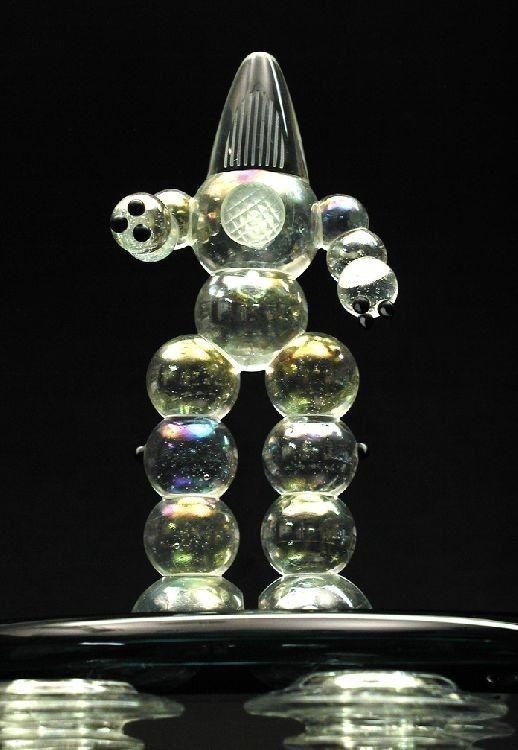 Custom Glass Robot Sci Fi Sculpture By Cornerstone