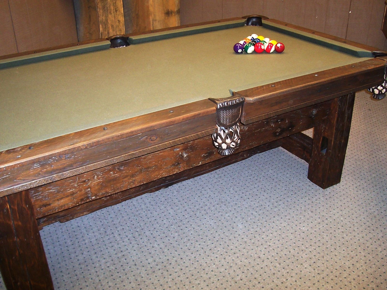 Hand Crafted Barn Board Pool Table By Barons Billiards